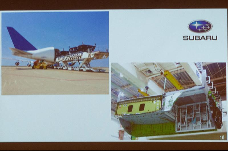 新たにSUBARUがコンテンツスポンサーに加わることが発表された。右下がSUBARUの製造する中央翼