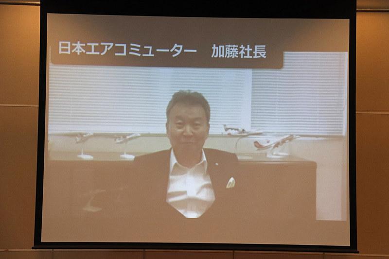 メンバーが所属する各社社長からのビデオメッセージが紹介された