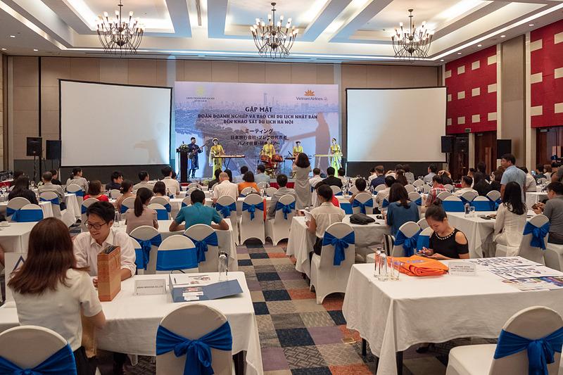 日本の旅行代理店とメディアを対象にしたハノイ観光局とベトナム航空によるFAMトリップが行なわれ、その最終日に地元旅行関係業者とのミーティング開かれた