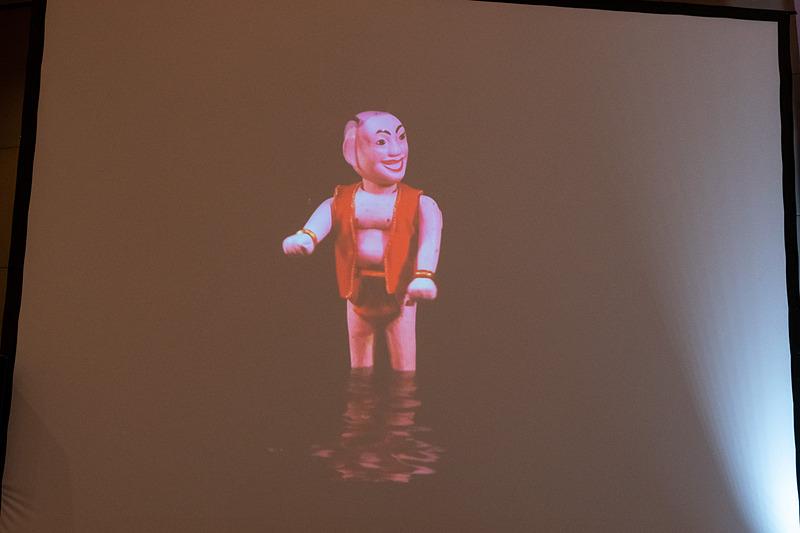 ハイ氏のスピーチ後にはハノイのプロモーションビデオを上映