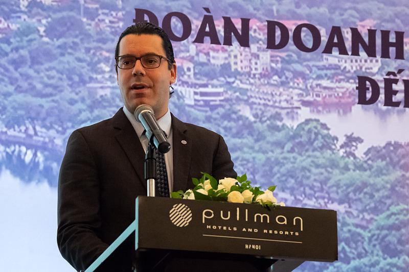 Pullman Hanoi General Manager サイモン・リンドリスバッハ(Simon Rindlisbacher)氏