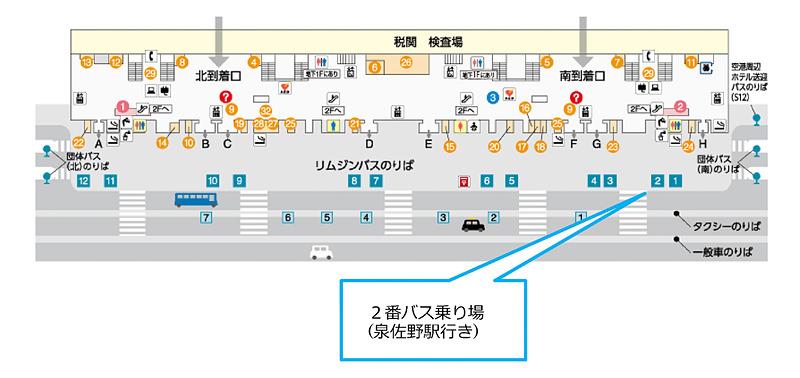 関西エアポートは関空の対岸にある泉佐野駅まで無料シャトルバスを運行開始した