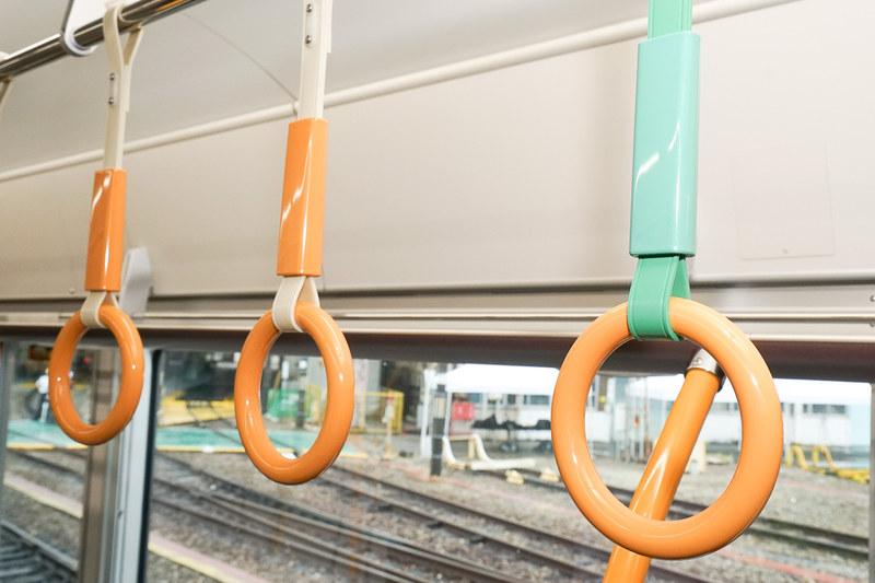 吊手はオレンジ色