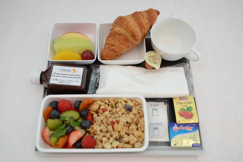 朝食で提供される機内食