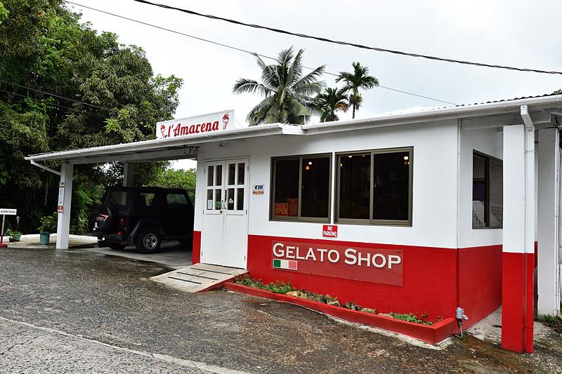 コロールの表通りから1本入ったところにあるイタリアンジェラートショップ「L' Amarena Gelato Shop」
