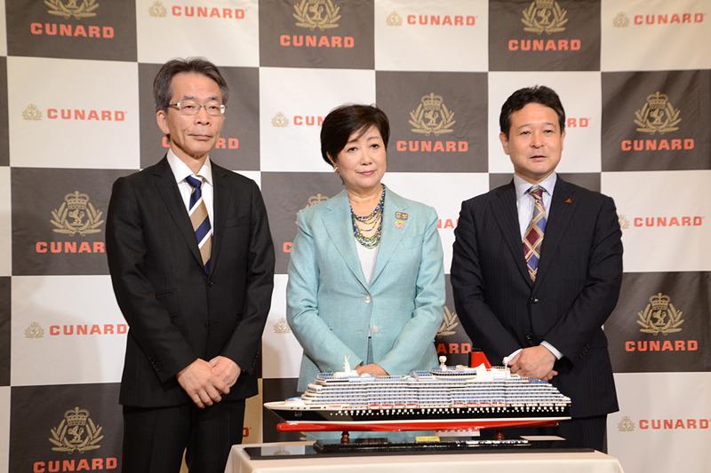 キュナードは豪華客船「クイーン・エリザベス」による2020年秋の東京発着クルーズを実施する