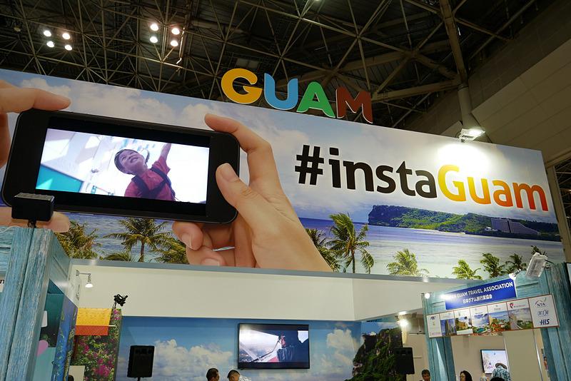 2019年も引き続き実施される「インスタグアム」キャンペーンにちなみ、グアムで撮影された写真などをモニターで紹介