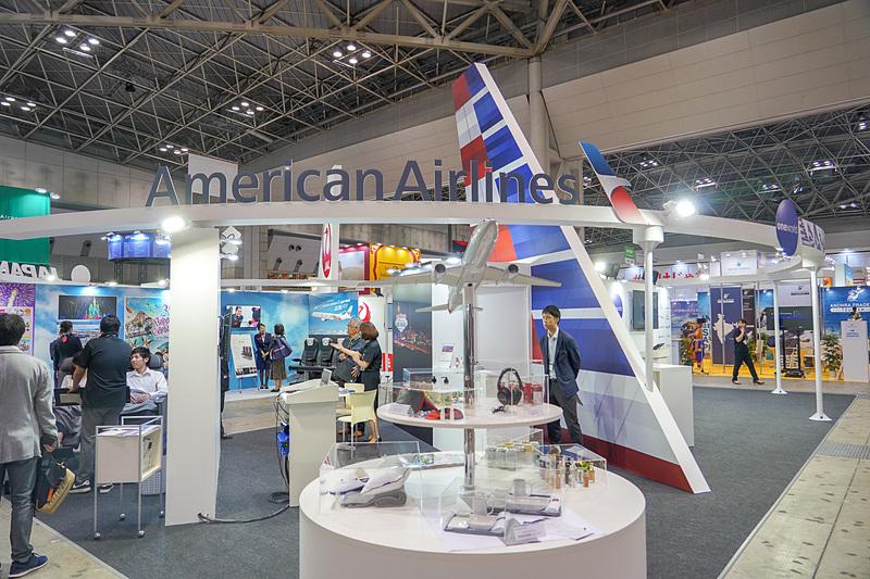 アメリカン航空のブース
