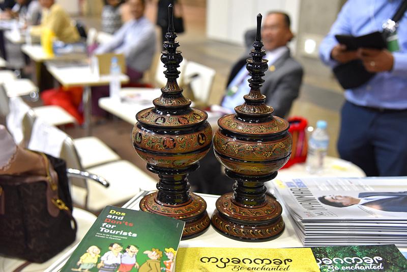 竹と漆を使用したミャンマーの漆芸