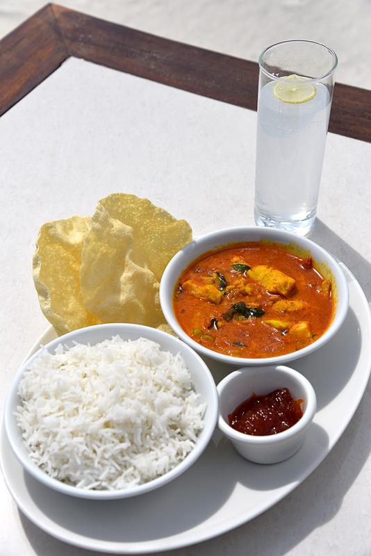 唐辛子マークがメニューにも載っている地元レベルの辛さがたまらない「Maldivian Fish Curry」