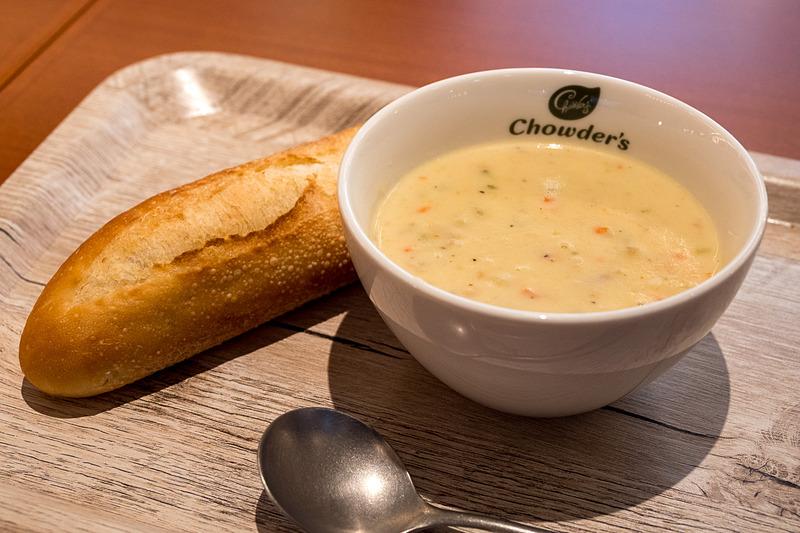 ニューイングランド・クラムチャウダーのスープセット(780円)