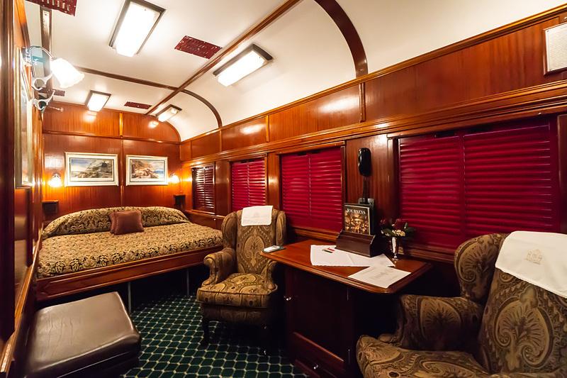 ロボスレイルロイヤル・スイートの客室