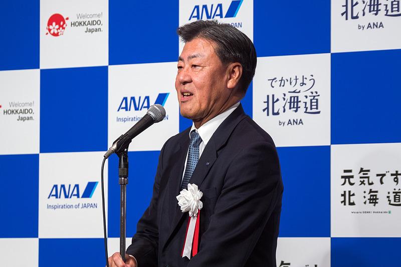 全日本空輸株式会社 代表取締役副社長 執行役員 志岐隆史氏