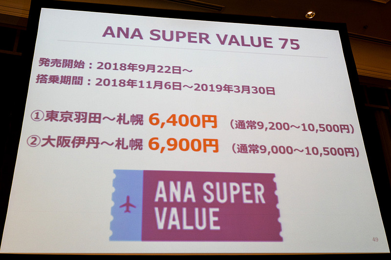 「でかけよう北海道」プロジェクトの取り組みを紹介したスライド