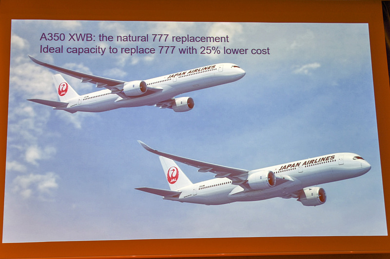 JALがA350を31機確定発注済み