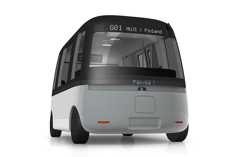 良品計画は自動運転バス「Gacha(ガチャ)シャトルバス(仮称)」に車体デザインを提供した