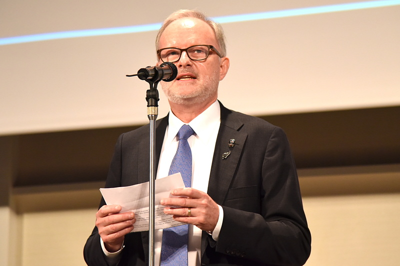 駐日ニュージーランド大使 スティーブン・ペイトン氏がスピーチ