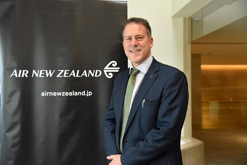 ニュージーランド航空 日本・韓国地区支社長 クロヴィス・ペリエ氏