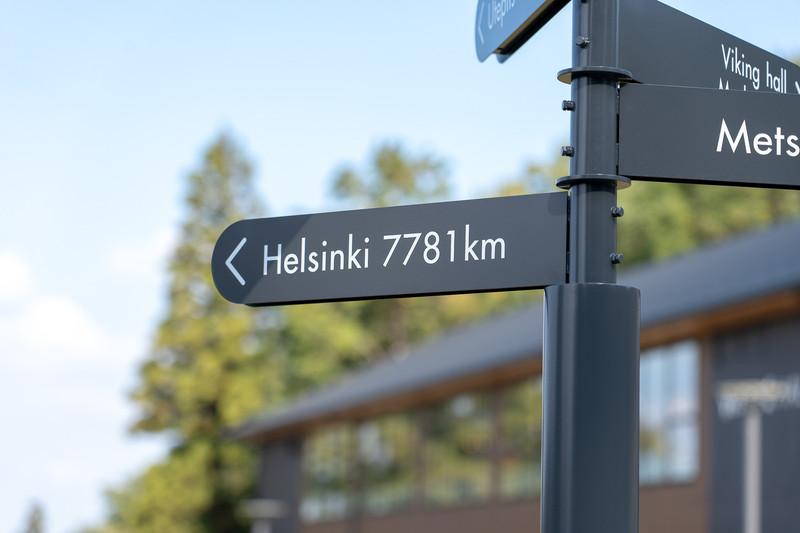 フィンランドの首都ヘルシンキまで7781kmもあるんですのね~