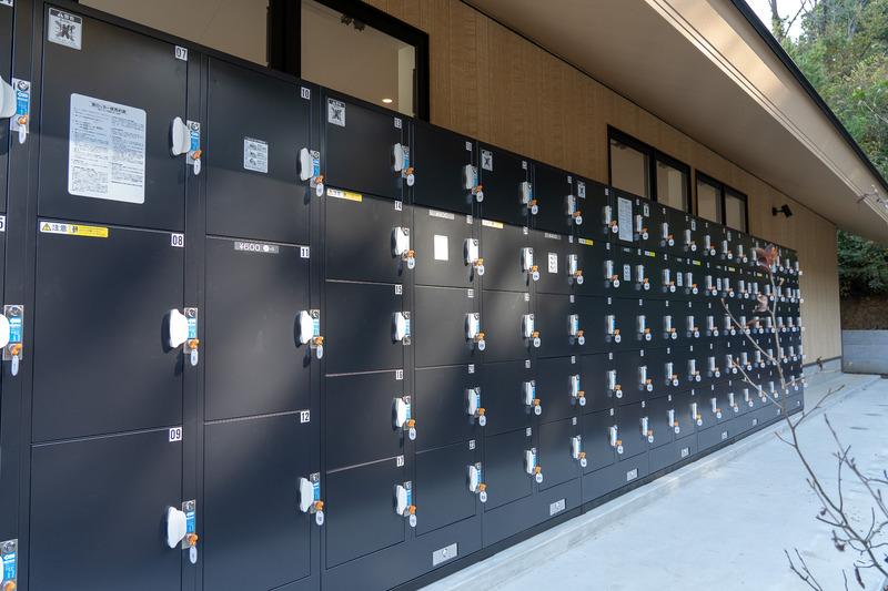コインロッカーはワークショップスペースのお隣りにあります