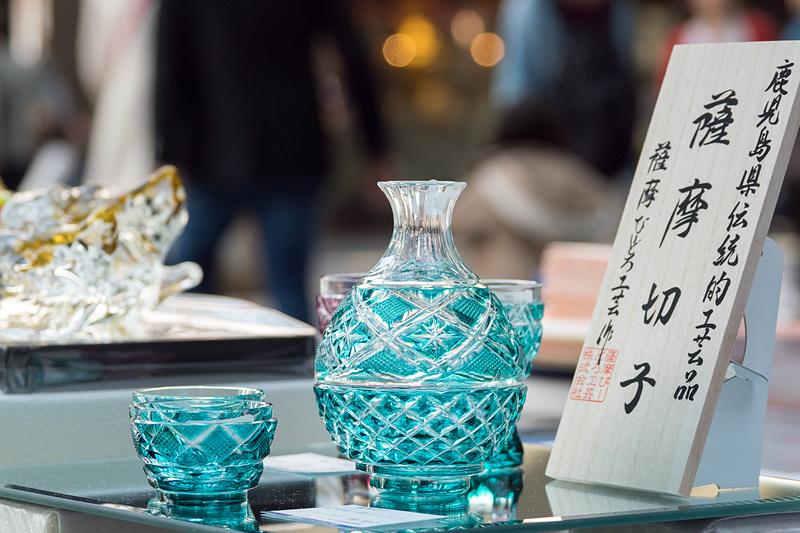 同じく鹿児島県さつま町からは薩摩びーどろ工芸が「薩摩切り子」を販売