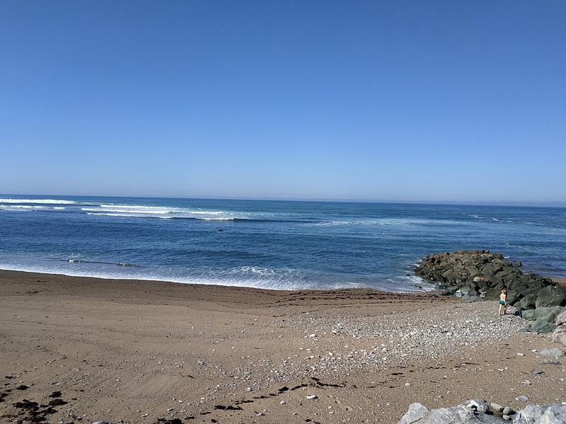 ほぼ毎日散歩に行っていたホテル近くの海。サーファーが多く、見ていて飽きません