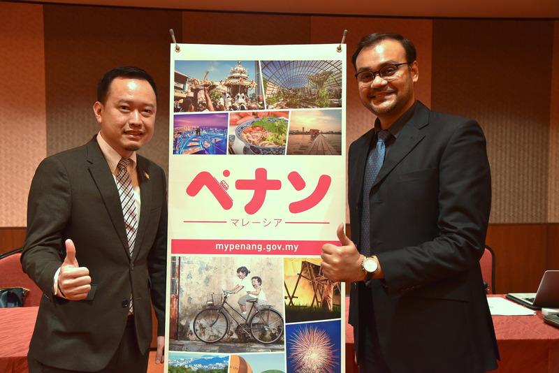ペナン州観光局 CEO Ooi Chok Yan氏(左)とマレーシア政府観光局 東京副支局長のシャハルル・アマン氏(右)
