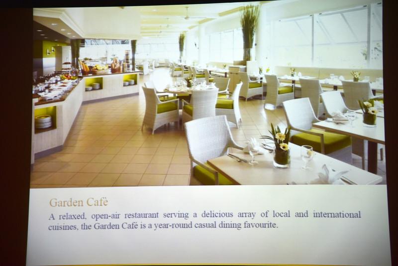 朝食会場の「Garden Cafe」