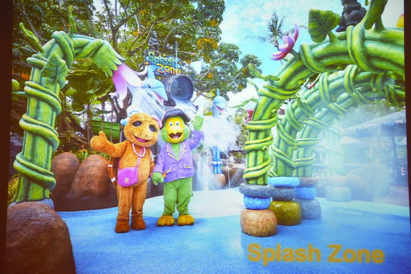 子供向けの施設「Splash Zone」などが充実しているので家族連れに人気