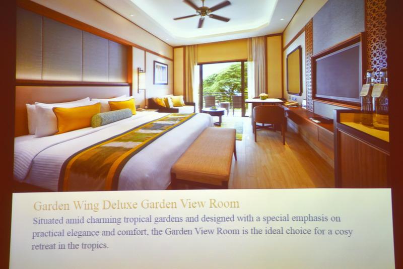 ボトムカテゴリーの「Garden Wing Delux Garden View Room」は42m<sup>2</sup>で大きめ
