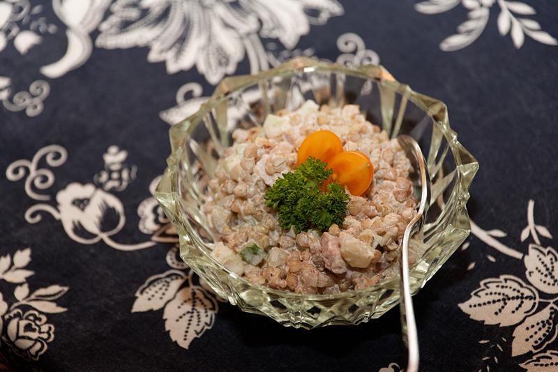 蕎麦の実のサラダ