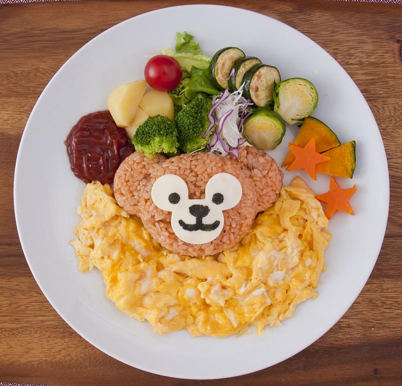 「ごはん型抜き」の調理例(画像提供:オリエンタルランド)
