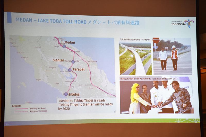 「メダン-トバ湖有料道路」は一部区間が開通し、2020年にむけて整備中だ
