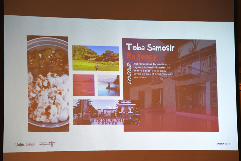 Taba Samosir県ではお米とブラウンシュガーで作った伝統的なフードをぜひ味わってとのこと