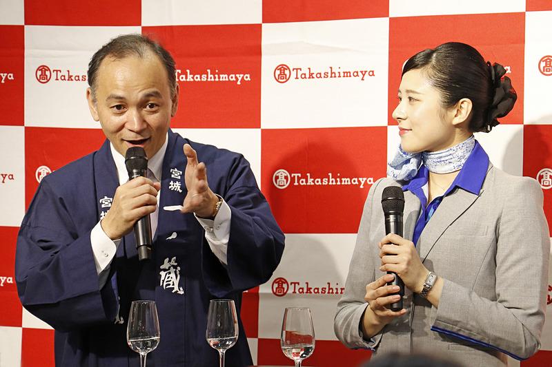 一ノ蔵の鈴木氏が軽快な語り口で酒造りについて解説