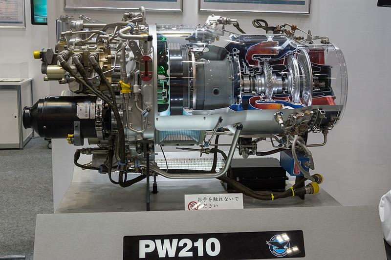 プラット&ホイットニーほか同社が参画している航空機エンジンの紹介。実際の部品なども展示している