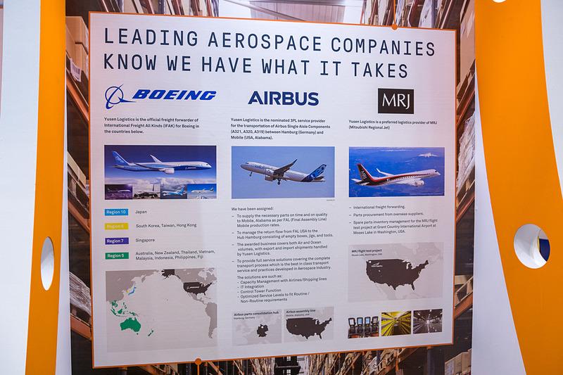 ボーイングやエアバス、三菱航空機の航空機部品の輸送に携わる