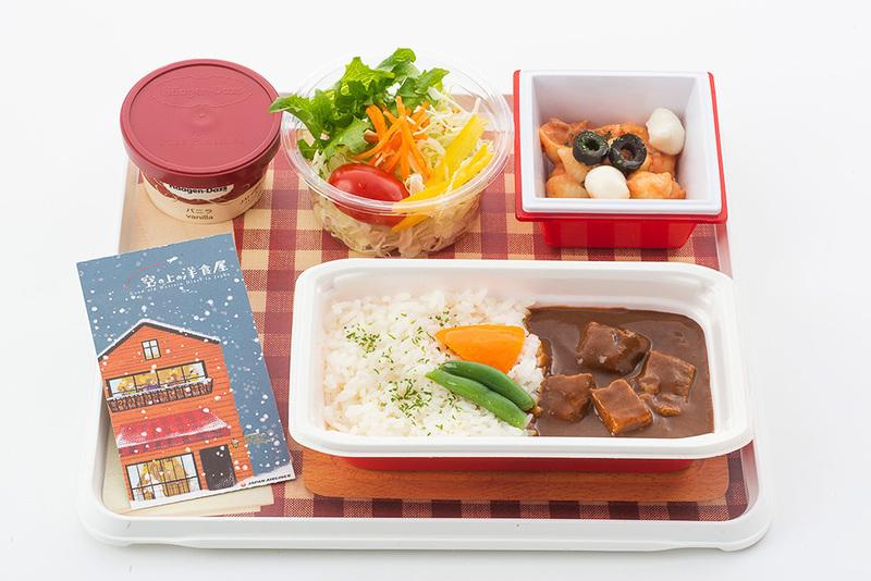 JALは12月1日から近距離国際線で提供している機内食をリニューアルする