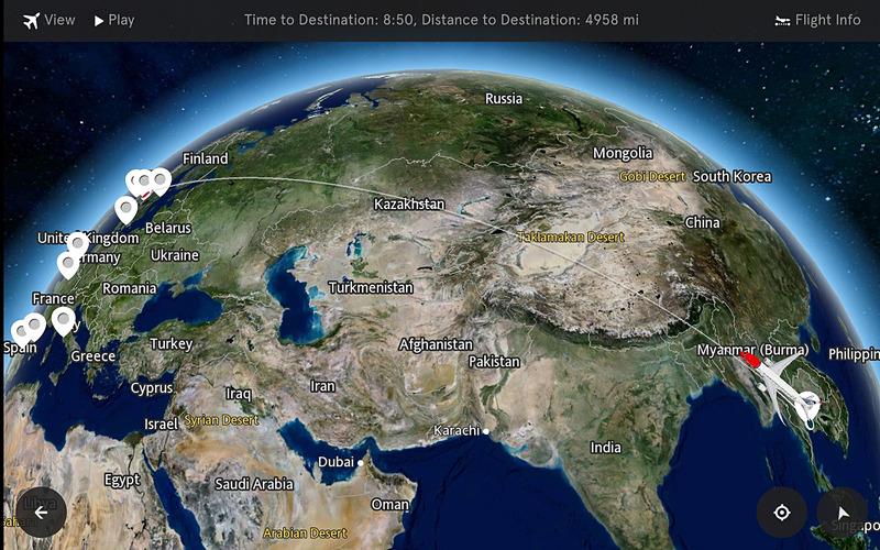 米Betria Interactiveが3D表示のインタラクティブなフライトマップ「FlightPath3D」の導入航空会社が50社に達したことを発表(画像:FlightPath3D)