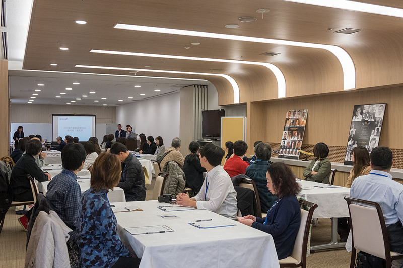 ANAC(ANAケータリングサービス)の川崎工場で行なわれた機内食総選挙の試食会イベント。約33倍の難関をくぐり抜けた当選者が参加した