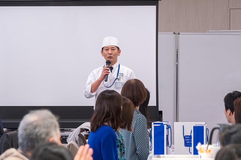 閉会の言葉を述べた洋食シェフの菊地恭大氏