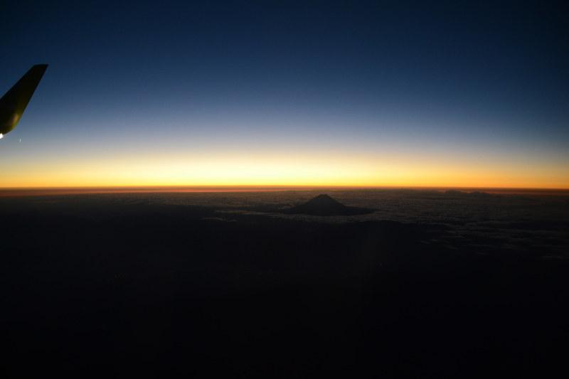 富士山を確認!