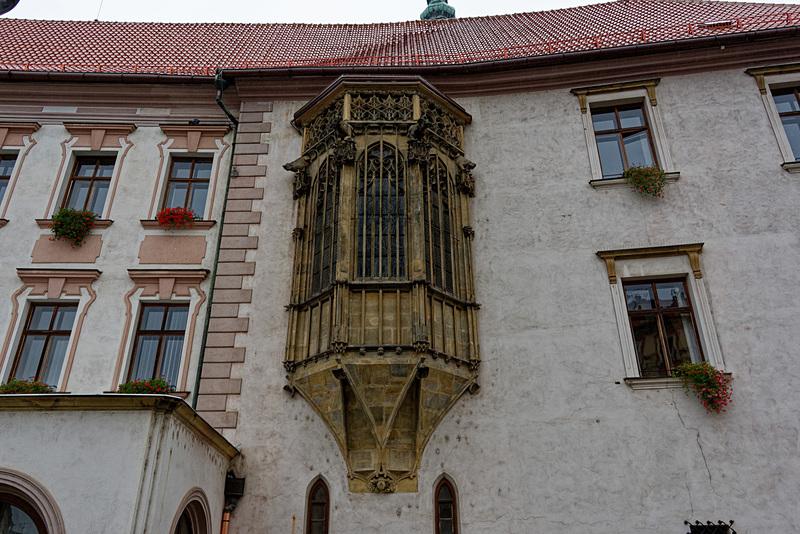 15世紀に作られたとされる張り出し窓