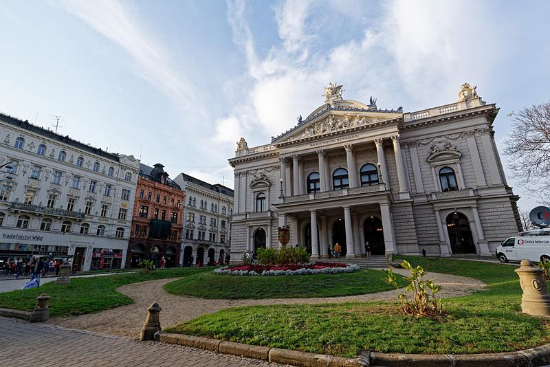 1882年に建設されたマヘン劇場。ヤナーチェクのオペラが開催され、同氏が亡くなったときは葬式もここで行なわれたという