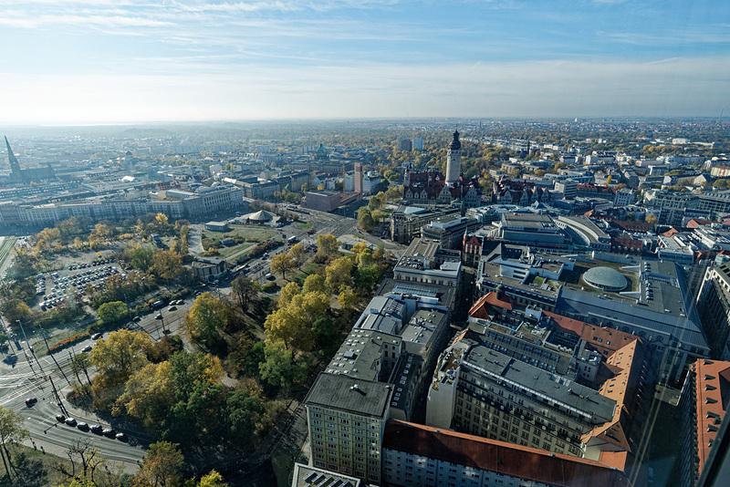 ライプツィヒの街並み