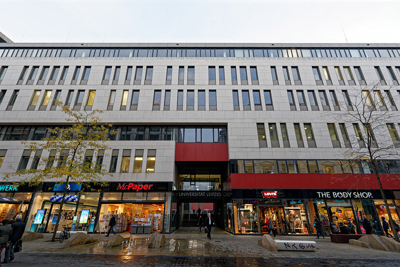 ライプツィヒ大学は建物の一部をテナントとして貸し出すことで運営資金を集めているという