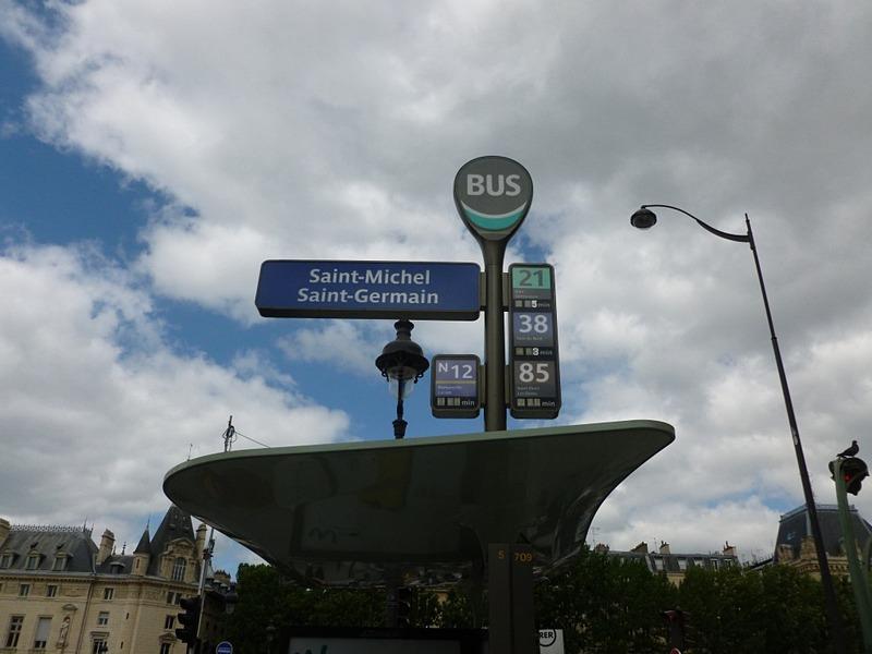 サンミッシェル・サンジェルマンのバス停
