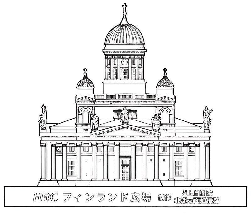 ヘルシンキ大聖堂の雪像など
