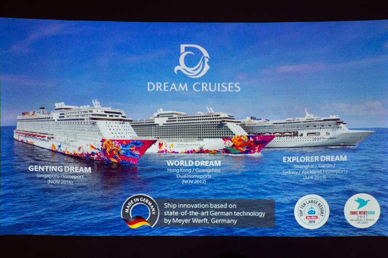 「ゲンティン ドリーム(Genting Dream)」「ワールド ドリーム(World Dream)」「エクスプローラー ドリーム(Explorer Dream)」