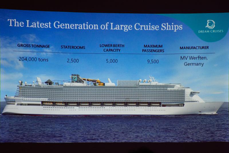 最大9500人乗りの新造船を建造中